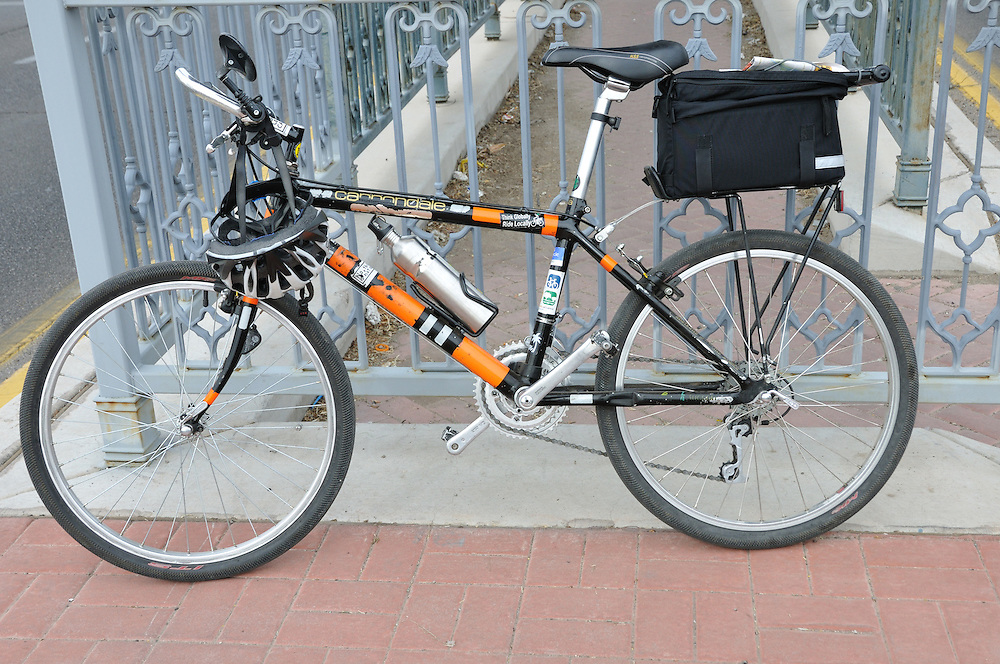 The Official Bike-tography Bike awaiting its next deployment during 2012 El Tour de Tucson. Bike-tography by Martha Retallick.