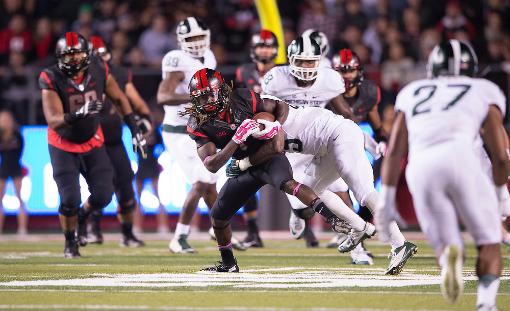 The Rutgers Scarlet Knights take on the Michigan State Spartans at High Point Solutions Stadium on Saturday night, October 10, 2015.<br />