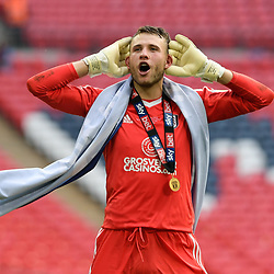 Marcus Bettinelli of Fulham celebrating at the final whistle