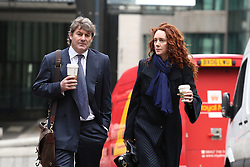 Phone hacking trial. Former Editor of the News of the World Rebekah Brooks and her husband Charlie Brooks arrives to continue giving evidence in the Phone hacking trial at The Old Bailey, London, United Kingdom. Friday, 28th February 2014. Picture by Daniel Leal-Olivas / i-Images