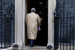 © Licensed to London News Pictures. 12/03/2019. London, UK. Attorney General Geoffrey Cox QC enters 10 Downing Street for a meeting of the Cabinet. MPs will get a second meaningful vote on Prime Minister Theresa May's Brexit deal this evening. Photo credit: Rob Pinney/LNP