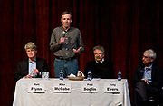 Mike McCabe makes his opening remarks during the public forum for Democratic gubernatorial candidates at LaFollete High School in Monona, Wisconsin, Sunday, Jan. 28, 2018.