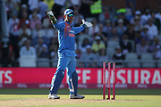 MS Dhoni (WK) during the International T20 match between England and India at Old Trafford, Manchester, England on 3 July 2018. Picture by George Franks.