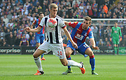 James mcArthur keeps a close tab on Darren Fletcher during the Barclays Premier League match between Crystal Palace and West Bromwich Albion at Selhurst Park, London, England on 3 October 2015. Photo by Michael Hulf.