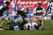 Reading, GREAT BRITAIN, Head down for the charge, Saracens, Moses RAULUNI, goes over the top, during the EDF Energy Cup, rugby match, London Irish vs Saracens at the Madejski  Stadium, ENGLAND, 30/09/2006. [Photo, Peter Spurrier/Intersport-images]..
