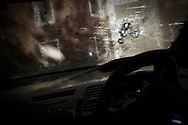 "LAHORE, PAKISTAN - MARCH 25: Bullet-holes are seen in the windshield of CIA contractor, Raymond Davis hire-car, on 25 March, 2011, in Lahore, Pakistan. Davis, CIA contractor and former US soldier, shot and killed 2 Pakistan men on January 27, he claimed were armed and attempting to car-jack him in a busy intersection of Lahore. In spite of his diplomatic immunity, Davis was arrested, imprisoned and charged with murder before he was released on March 16, when the US government paid ""blood-money"" to the victims' families. The incident sparked a major diplomatic furore, widespread protests and the deterioration of US-Pak ties, which would only further weaken in the coming months when Osama bin Laden was killed by US Navy Seals hiding in the Pakistani military garrison town, Abbottabad.  (Photo by Warrick Page)"