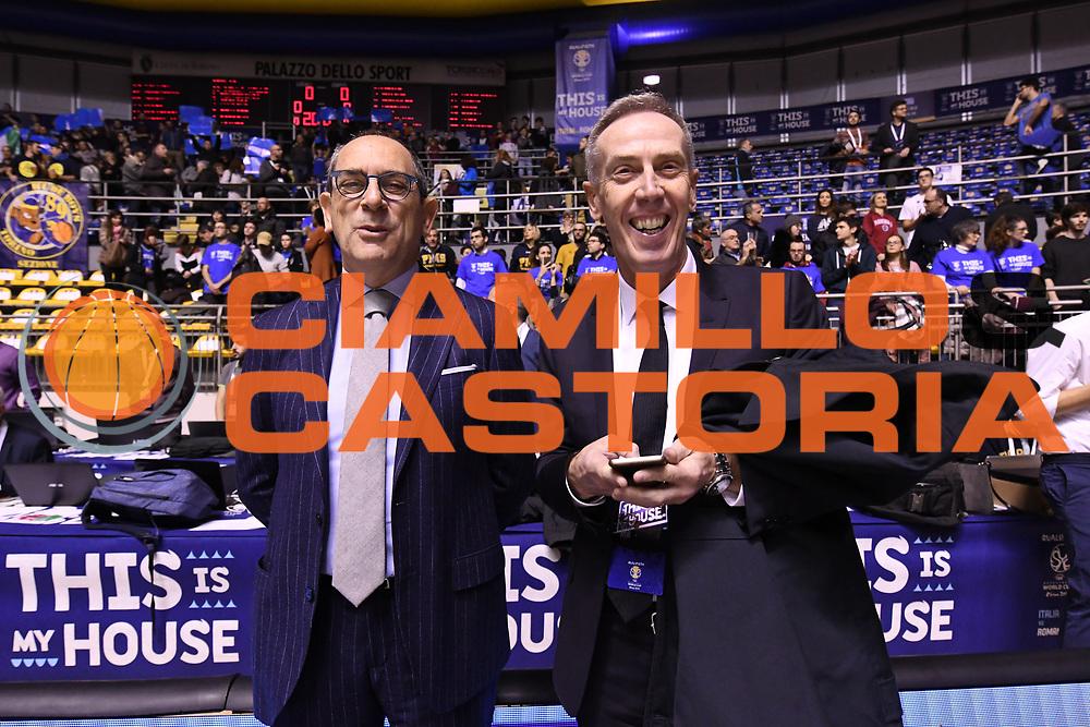 Egidio Bianchi, Maurizio Bezzecchi<br /> Nazionale Italiana Maschile Senior - 2019 FIBA Basketball World Cup Qualifiers<br /> Italia Romania - Italy Romania<br /> FIP 2017<br /> Torino, 24/11/2017<br /> Foto:  Ciamillo-Castoria / M.Longo