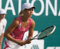 Liverpool, England - Tuesday, June 12, 2007: Nikola Hoffmanova in action on day one of the Liverpool International Tennis Tournament at Calderstones Park. For more information visit www.liverpooltennis.co.uk. (Pic by David Rawcliffe/Propaganda)