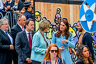 11-5-2017 LUXEMBURG - The Duchess of Cambridge kate princess arriving with Crown Princess Stephanie at MUDAM (Musee d'Art Moderne) during a day of visits in Luxembourg where she is attending commemorations marking the 150th anniversary 1867 Treaty of London, that confirmed the country's  copyright robin utrecht <br /> 11-5-2017 LUXEMBURG - De hertogin van Cambridge- kate prinses die tijdens een dag van bezoeken in Luxemburg aan Crown Princess Stephanie bij MUDAM arriveert, waar zij de herdenking van het 150-jarig bestaan van het Verdrag van Londen van 1867, bevestigd Het land auteursrecht robin utrecht