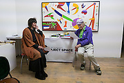 VANESSA VIE; MICHAEL HOROVITZ, Michael Horovitz and Vanessa Vie with guests Carlos Puente and Isabel del Rio, Stretches of Spain event, Art Project Space, Bermondsey St. London. 31 March 2016