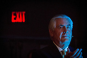 Houston, Texas, USA, 20150421: CEO i Exxon Mobil, Rex Tillerson, under årets CERAweek. Den 34. internasjonale energimessa CERA avholdes i Houston i dagene 20. - 24. april. Foto: Ørjan F: Ellingvåg
