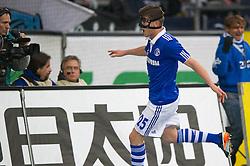 19.11.2011, Veltins Arena, Gelsenkirchen, GER, 1. FBL, FC Schalke 04 vs 1. FC Nuernberg, im Bild Jubel Klaas-Jan Huntelaar (#25 Schalke) nach dem 1-0 // during FC Schalke 04 vs. 1. FC Nuernberg at Veltins Arena, Gelsenkirchen, GER, 2011-11-19. EXPA Pictures © 2011, PhotoCredit: EXPA/ nph/ Kurth..***** ATTENTION - OUT OF GER, CRO *****