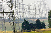Power pylons, North Kent, United Kingdom RESERVED USE - NOT FOR DOWNLOAD -  FOR USE CONTACT TIM GRAHAM