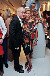 DAMIEN HIRST and MAIA NORMAN at the Mother of Pearl Launch at The Other Criteria, 36 New Bond Street, London W1 on 12th April 2011.