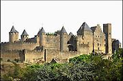 Frankrijk, Carcassonne, 20-9-2008De ommuurde cité, oude stad.The fortified old, medieval city.Foto: Flip Franssen