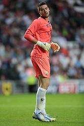 MK Dons goalkeeper Ian McLoughlin (16) .Photo mandatory by-line: Nigel Pitts-Drake/JMP  - Tel: Mobile:07966 386802 31/07/2013 - MK Dons v  Tottenham XI  - SPORT - FOOTBALL - pre-season - Milton Keynes - Stadium MK