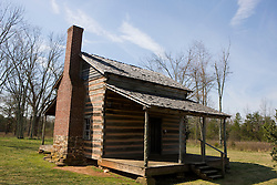The Robert Scruggs house, Cowpens National Battlefield Park, Cowpens, South Carolina, March 17, 2008..