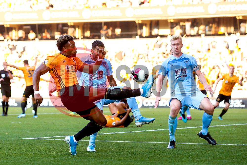 Adama Traore of Wolverhampton Wanderers crosses the ball - Mandatory by-line: Robbie Stephenson/JMP - 25/08/2019 - FOOTBALL - Molineux - Wolverhampton, England - Wolverhampton Wanderers v Burnley - Premier League