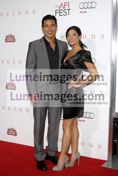 HOLLYWOOD, CA - NOVEMBER 01, 2009. Mario Lopez and Courtney Mazza at the AFI FEST 2009 Screening of 'Precious' held at the Grauman's Chinese Theater in Hollywood, USA on November 1, 2009.