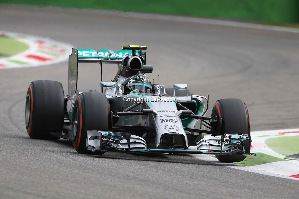 &copy; Photo4 / LaPresse<br /> 05/09/2014 Monza, Italy<br /> Sport <br /> Grand Prix Formula One Italy 2014<br /> In the pic: Lewis Hamilton (GBR) Mercedes AMG F1 W05