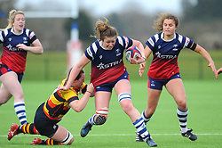 Amelia Buckland-Hurry of Bristol Bears Women  in action- Mandatory by-line: Nizaam Jones/JMP - 23/03/2019 - RUGBY - Shaftesbury Park - Bristol, England - Bristol Bears Women v Richmond Women- Tyrrells Premier 15s