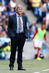 Manager Manuel Pellegrini of Manchester City looks on - Photo mandatory by-line: Rogan Thomson/JMP - 07966 386802 - 30/08/2014 - SPORT - FOOTBALL - Manchester, England - Etihad Stadium - Manchester City v Stoke City - Barclays Premier League.