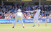 England Ben Stokes hits a six during the first day of the Investec 1st Test  match between England and New Zealand at Lord's Cricket Ground, St John's Wood, United Kingdom on 21 May 2015. Photo by Ellie  Hoad.