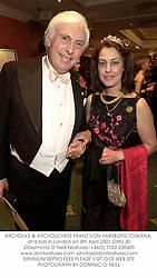 ARCHDUKE & ARCHDUCHESS FRANZ VON HABSBURG-TOSKANA, at a ball in London on 4th April 2001.OMU 30
