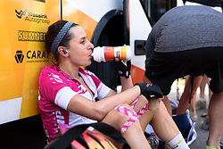 Megan Guarnier (Boels Dolmans) recovers at Giro Rosa 2016 - Stage 6. A 118.6 km road race from Andora to Alassio, Italy on July 7th 2016.