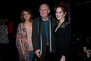 KARA TOINTON; ALAN AYCKBOURN; KATHERINE PARKINSON, Absent Friends - press night  afterparty. Mint Leaf. Haymarket. London. Thursday 9 February 2012