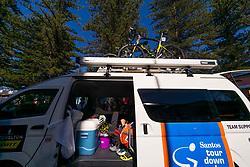 January 18, 2018 - Glenelg, South Australia, Australia - Mitchelton Scott team bus at the start of Stage 3, Glenelg to Victor Harbor, of the Tour Down Under, Australia on the 18 of January 2018  (Credit Image: © Gary Francis via ZUMA Wire)