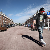 Nederland, Amsterdam , 15 september 2014.<br /> Van der Pekstraat is gerenoveerd met een flinke middenberm waar 3x per week  markt zal zijn.<br /> Foto:Jean-Pierre Jans