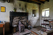 White Laggan bothy interior South of Loch Dee, Southern Uplands, Scotland