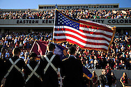 Veterans are honored at halftime during the football matchup of EKU and Murray State in Roy Kidd Stadium at Eastern Kentucky University, Saturday, November 10, 2012. Photo by Chris Radcliffe