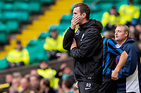 05/10/14 SCOTTISH PREMIERSHIP<br /> CELITC v HAMILTON<br /> CELTIC PARK - GLASGOW<br /> Celtic manager Ronny Deila watches on from the dugout