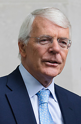 © Licensed to London News Pictures. 22/07/2018. London, UK.  Sir John Major, former Prime Minister leaving BBC Broadcasting House after appearing for an interview on the Andrew Marr show.  Photo credit: Vickie Flores/LNP