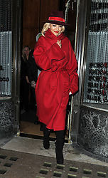 Singer Rita Ora and boyfriend Ricky Hilfiger enjoy dinner at Mr Chow restaurant in Knightsbridge, London, UK. 11/11/2014<br />