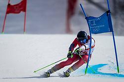 18-02-2018 KOR: Olympic Games day 9, Pyeongchang<br /> Alpine Skiing Men's Giant Slalom at Yongpyong Alpine Centre / Luca Aerni of Switzerland