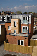 Terrace flats (TV Aerial digitally removed)