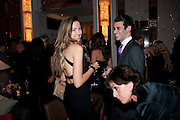 LOUISE BOLAGNA; JOHN KRASNER; , Ella Krasner and Pablo Ganguli host a Liberatum dinner in honour of Sir V.S.Naipaul. The Landau at the Langham. London. 23 November 2010. -DO NOT ARCHIVE-© Copyright Photograph by Dafydd Jones. 248 Clapham Rd. London SW9 0PZ. Tel 0207 820 0771. www.dafjones.com.
