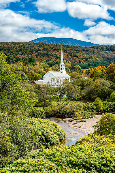 The church in Stowe, Vermont. All Content is Copyright of Kathie Fife Photography. Downloading, copying and using images without permission is a violation of Copyright.
