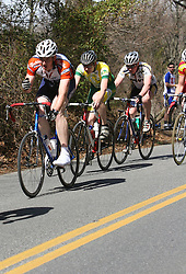 Blake Walker rides with the men's A field at the Johns Hopkins road race.  Walker finished 18th for the Wahoos.