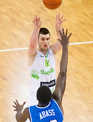 Marko Pajic of Slovenia during basketball match between National team of Slovenia and Italy in First Round of U20 Men European Championship Slovenia 2012, on July 12, 2012 in Domzale, Slovenia.  (Photo by Vid Ponikvar / Sportida.com)