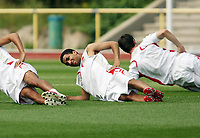 Photo: Chris Ratcliffe.<br />England Training Session. FIFA World Cup 2006. 29/06/2006.<br />Aaron Lennon in training.