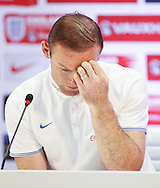 Wayne Rooney of England during the England press conference at Estádio Claudio Coutinho, Rio de Janeiro<br /> Picture by Andrew Tobin/Focus Images Ltd +44 7710 761829<br /> 21/06/2014