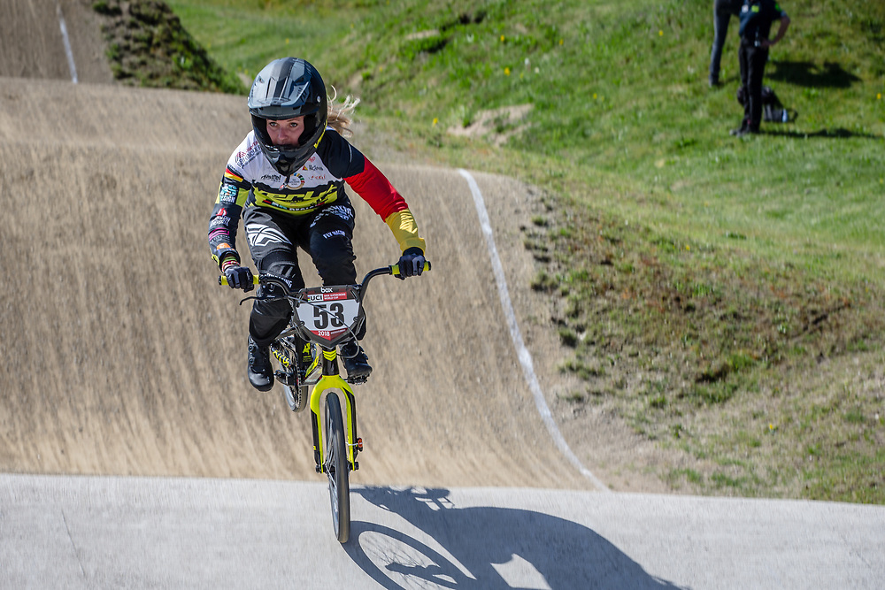 #53 (PRIES Nadja) GER during practice of Round 3 at the 2018 UCI BMX Superscross World Cup in Papendal, The Netherlands