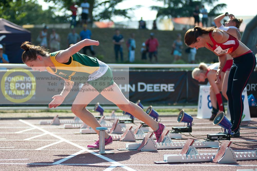 LIEBENBERG Anrune, RSA, 100m, T46, 2013 IPC Athletics World Championships, Lyon, France