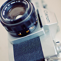An old vintage film camera