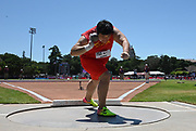 Jun 30, 2019; Stanford, CA, USA; Lijiao Gong (CHN) wins the women's shot put at 64-11 1/4 (19.79m) during the 45th Prefontaine Classic at Cobb Track & Angell Field.