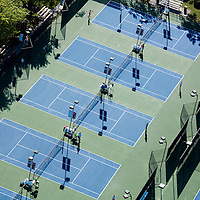 Tennis courts from the air